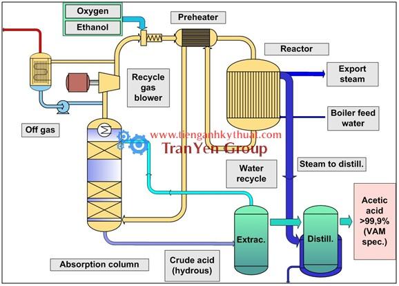 Quy trình sản xuất acid acetic từ nguyên liệu sinh học