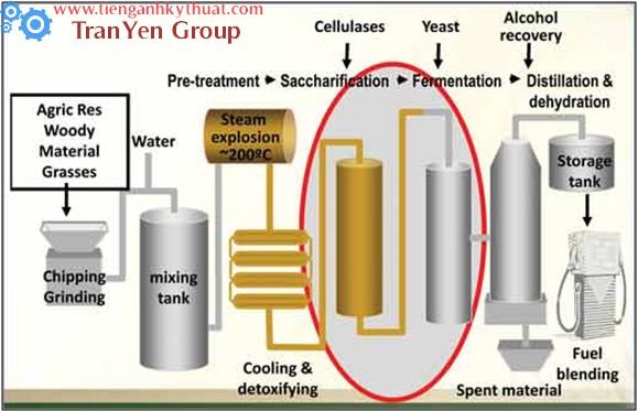 Quy trình sản xuất ethanol từ nhiên liệu sinh học