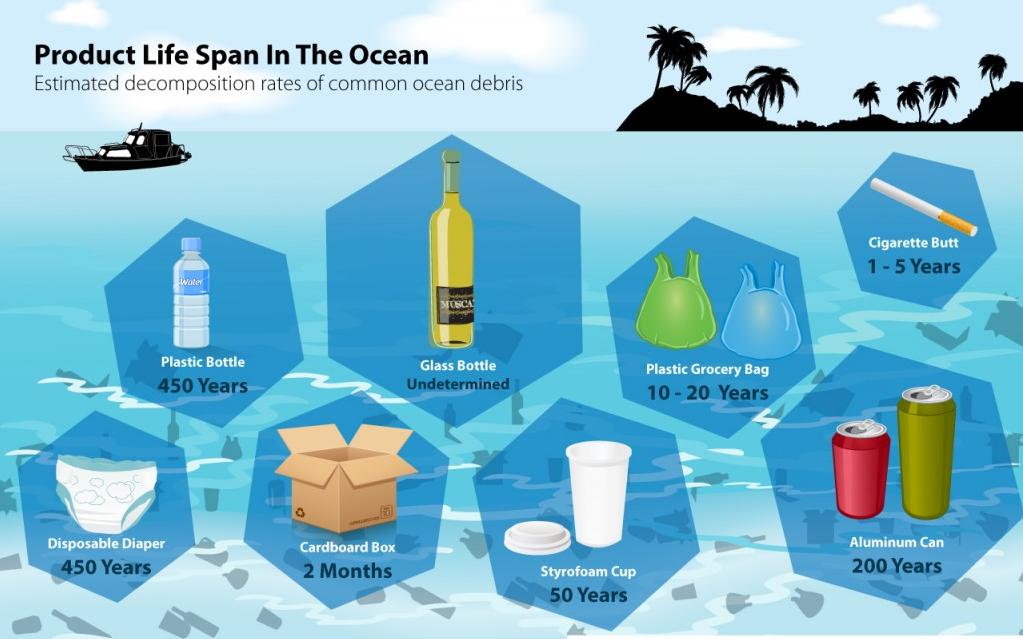 Mất bao lâu để rác thải phân hủy?
