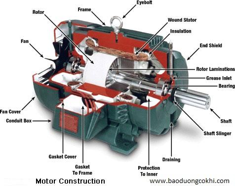 Cấu tạo và nguyên lí hoạt động của mô tơ điện
